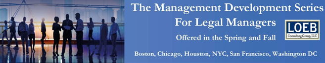 The Management Development Series For Legal Managers